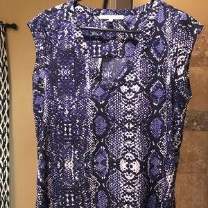 Blue snake skin blouse